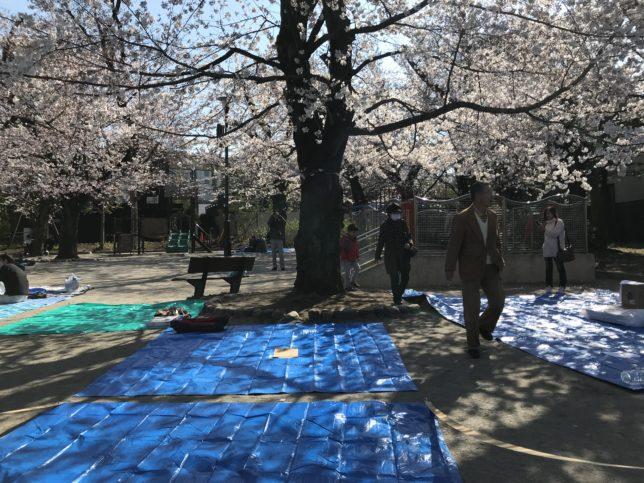 洗足池公園の花見